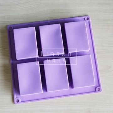 6孔長方磚矽膠連模(