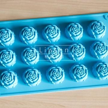 小玫瑰造型矽膠模(食
