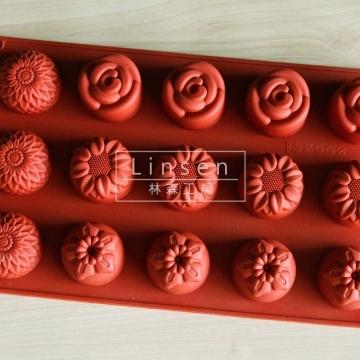 多種花朵矽膠模(食品