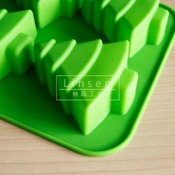聖誕樹矽膠模6孔(食