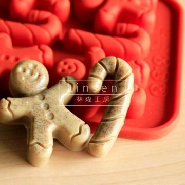 薑餅人造型矽膠模(食