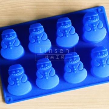 雪人造型矽膠模(食品